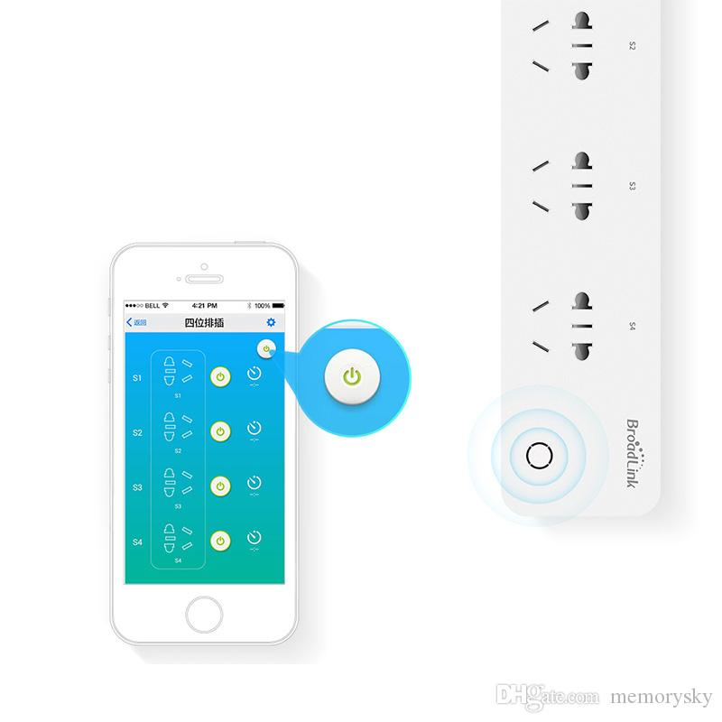 Broadlink MP1 Smart Home Enchufe WIFI Socket Strip WiFi Timing Plug 4 Puertos Power Strip Individual Control remoto inalámbrico
