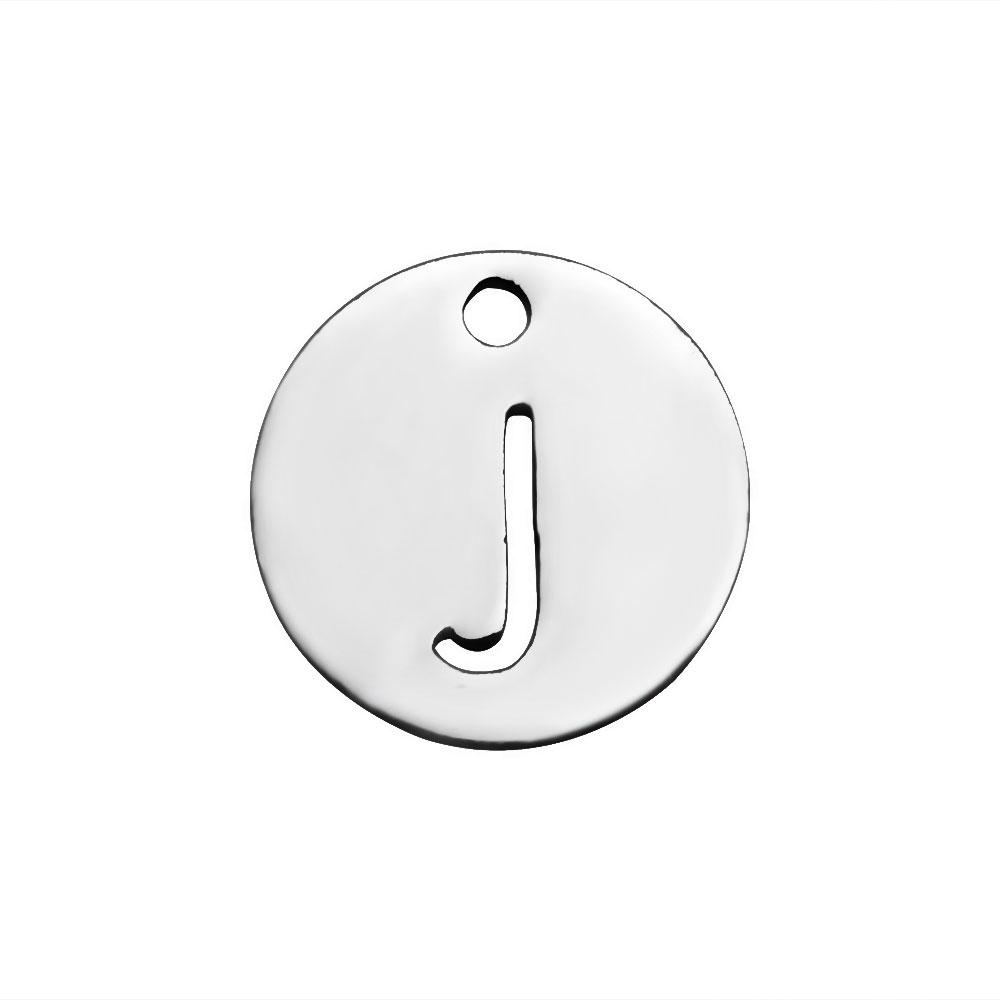 Simple Small 12mm Alphabet Letter Charms A-Z Round Metal Stainless Steel Charm Pendant For Bracelet DIY Making Jewelry Supplies 2017 New