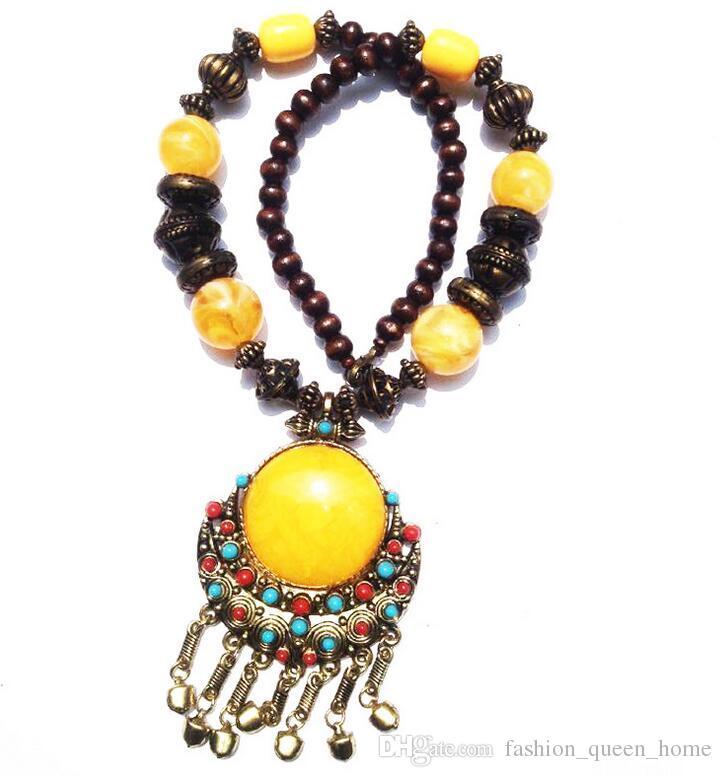 30 adet Yeni vintage Takı Tibet ulus Tarzı Vintage bohemia büyük kolye Moda bildirimi Kolye klasik Aksesuarları Kadınlar F263