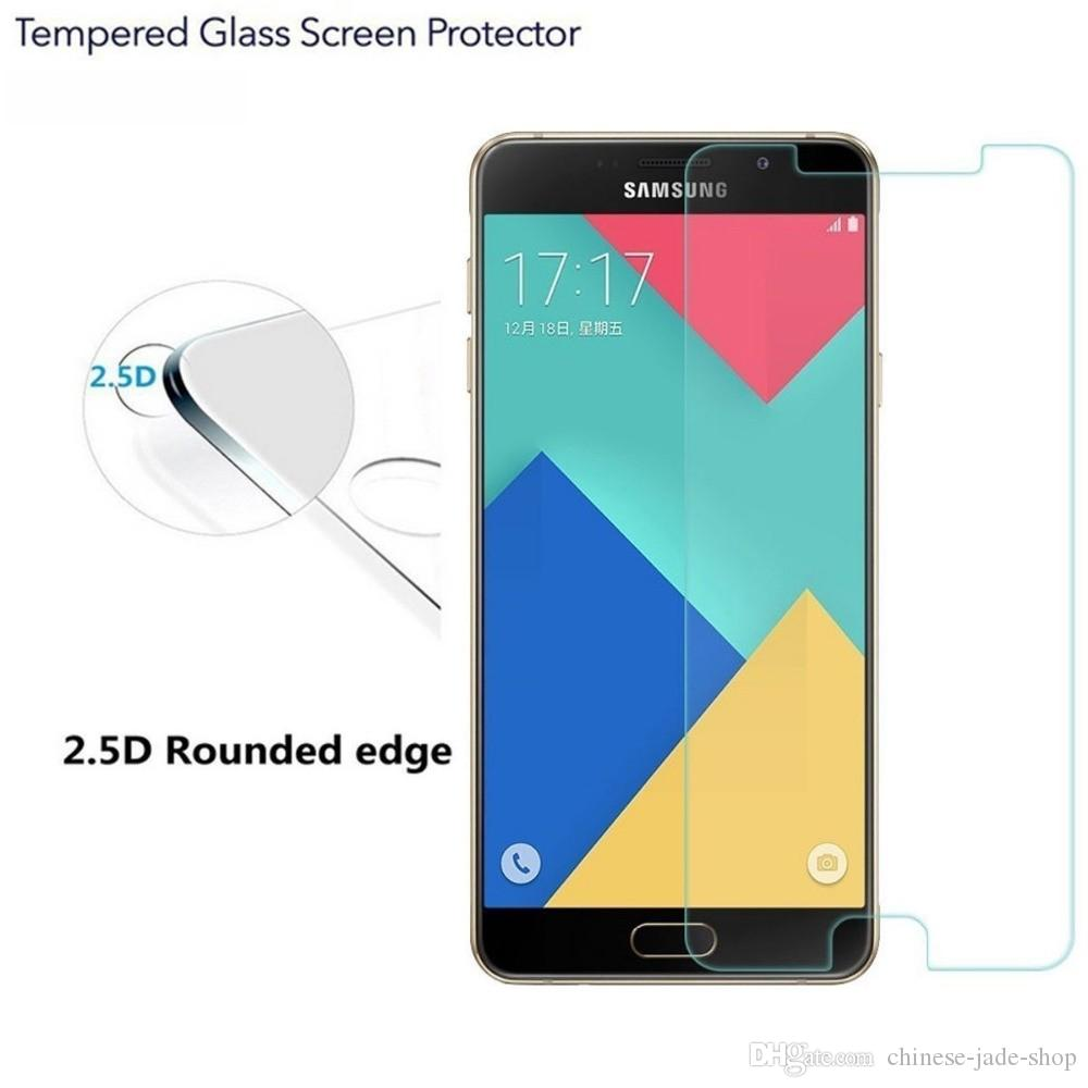 For For Samsung Galaxy A3 A5 A7 A8 A9 A310 A510 A710 E5 E7 C5 9H Premium 2.5D Tempered Glass Screen Protector