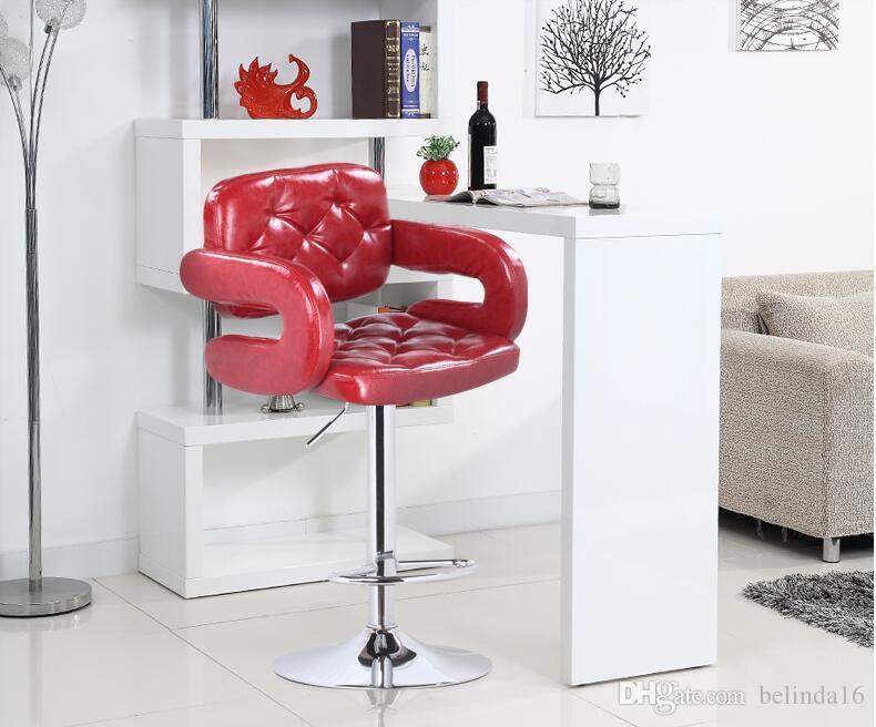 Acquista coffe sgabello da bar sedia cuoio sedile da casa lving room