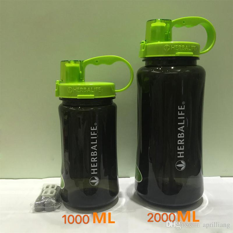 New Outdoor Sport Herbalife Water Bottle Travel Camping Portable Vacuum Flask Lip Shake Cup Drink Straw Type Bottles 1000ML 2000ML 32OZ/64OZ