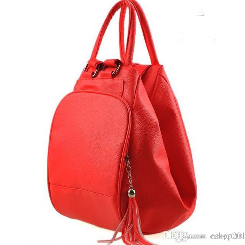 2016 New Womens Backpack Style Pu Leather Purse Multi Function ...