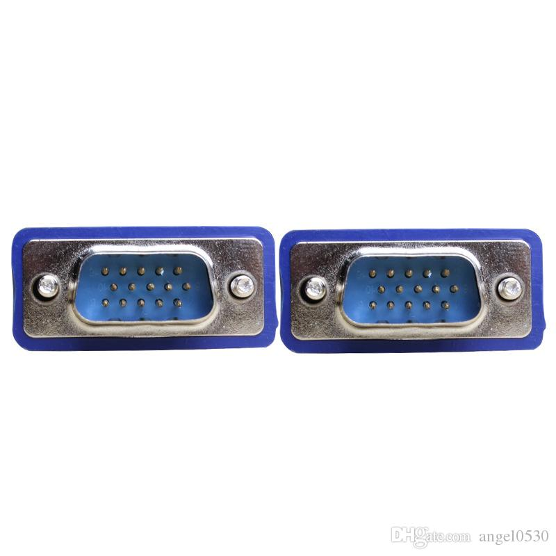 1.5 M 5FT 15 PIN 3 + 5 VGA SVGA HDB15 OD5.5 MM SUPER VGA SVGA M / M Maschio A Maschio Connettore Cavo Cavo di Estensione Monitor Proiettore