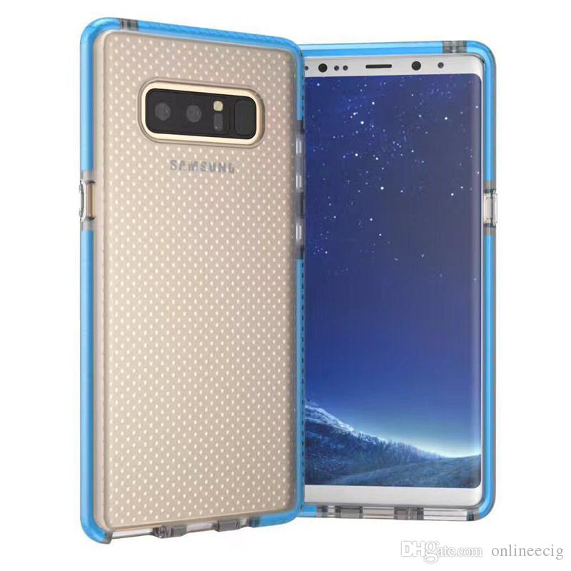 best service 70950 91ceb For Samsung Note 8 Case Hybrid Dual Color Clear Soft TPU Mesh Drop  Shockproof Back Cover Case For Samsung Galaxy Note 8