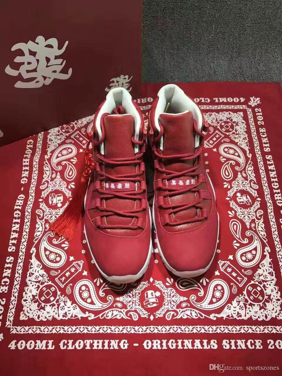 new 11 Famous Brand XI Chinese new year the remade quality basketball shoes men women cheap sale US size 7 12 sneakers