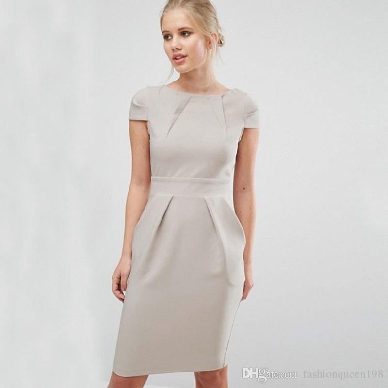 Online Cheap Formal Office Dresses For Women Business Summer 2017