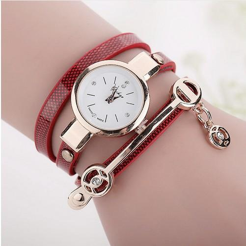 Global fashion trend hot pattern angel pendant bracelet table diamond PU winding multi-layer temperament ladies table