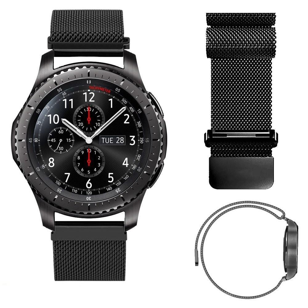 자기 폐쇄 w 밀라노 루프 손목 시계를 들어 삼성 기어 S3 클래식 스트랩 기어 S3 프론티어 스테인레스 스틸 밴드