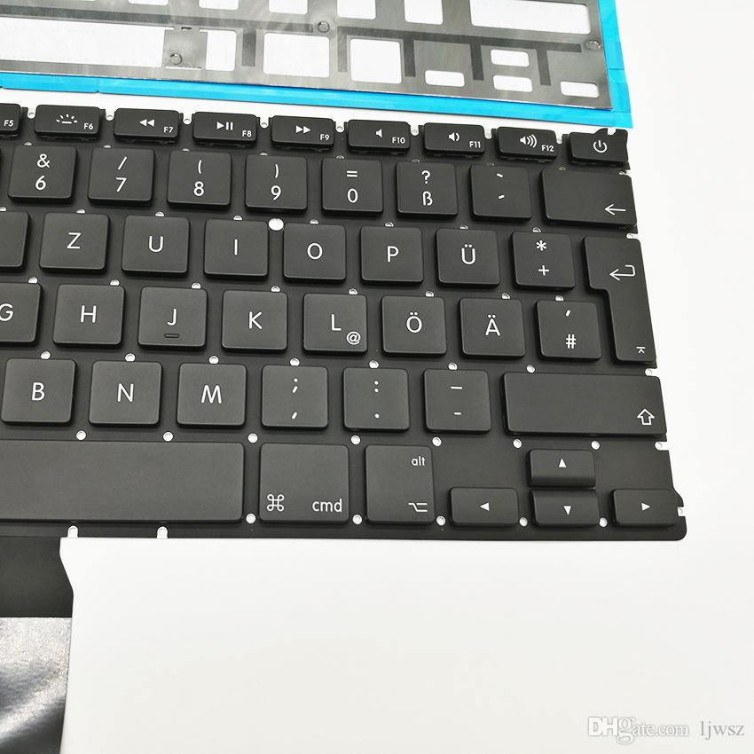 """Brand New Laptop German Germany Keyboard With Backlight For Macbook Air 13"""" A1369 2011 A1466 2012-2015 Years"""