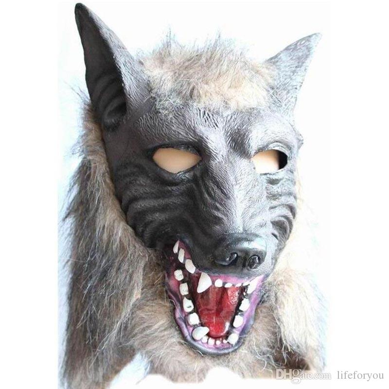 halloween costumes masquerade mask halloween mask horrible wolf mask gloves resin material halloween decorations carnival trick funny silver masquerade - Halloween Costumes With A Masquerade Mask