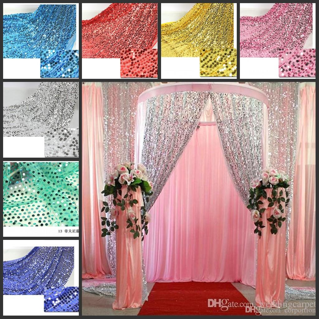 Shiny 9mm Sequins Fabric For Wedding Table Cloth Decoration Backdrop ...