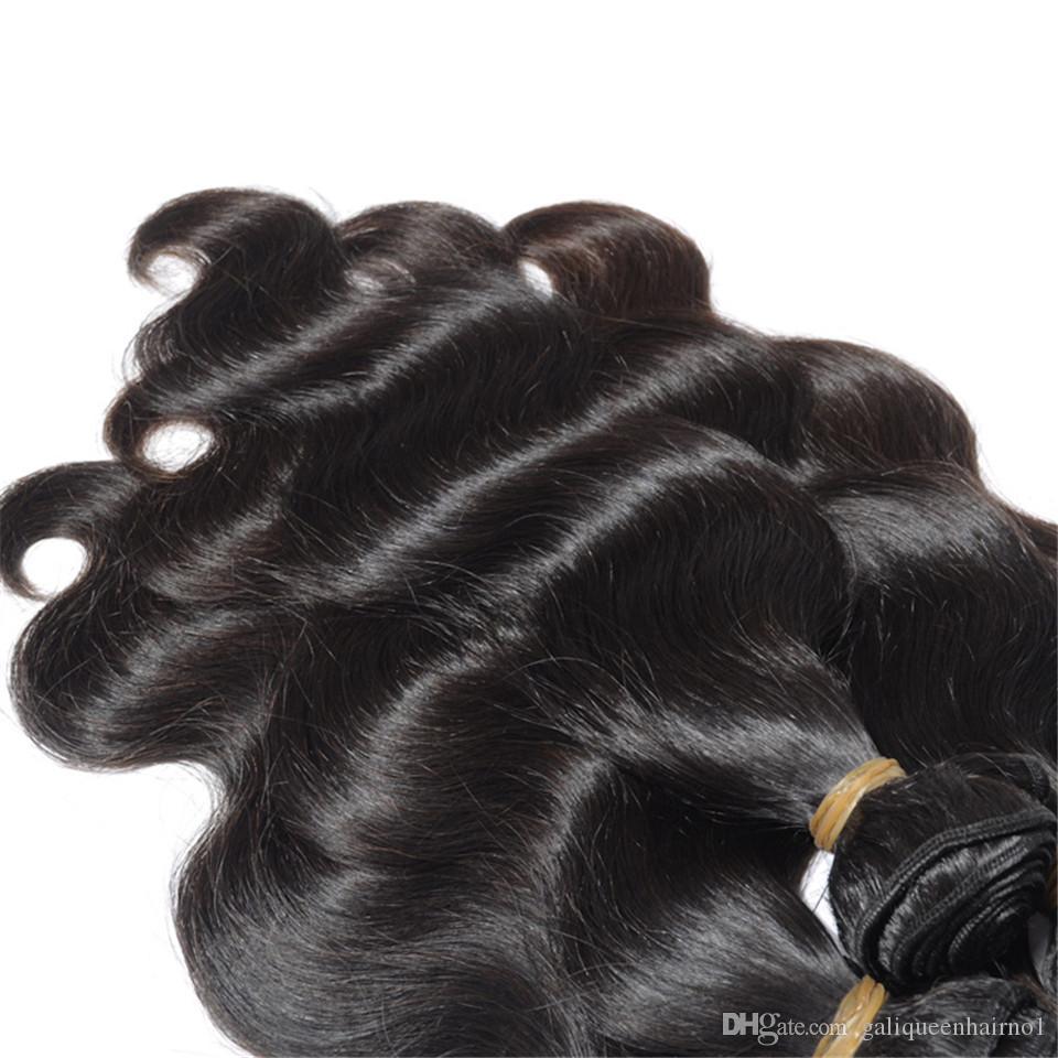 البرازيلي الجسم موجة عذراء الشعر البشري ينسج لحمة مزدوجة اللون الطبيعي الأسود 80 جرام / قطعة 3 قطعة / الوحدة يمكن مصبوغ ريمي الشعر