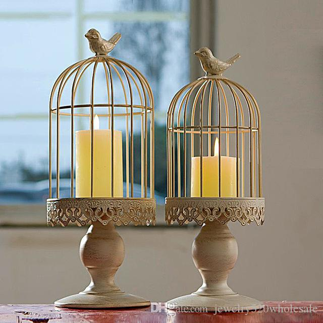 venta al por mayor decoracin del arte candelabro de la jaula del pjaro decoracin mediterrnea de la boda del hierro del estilo europeo decoracin de la