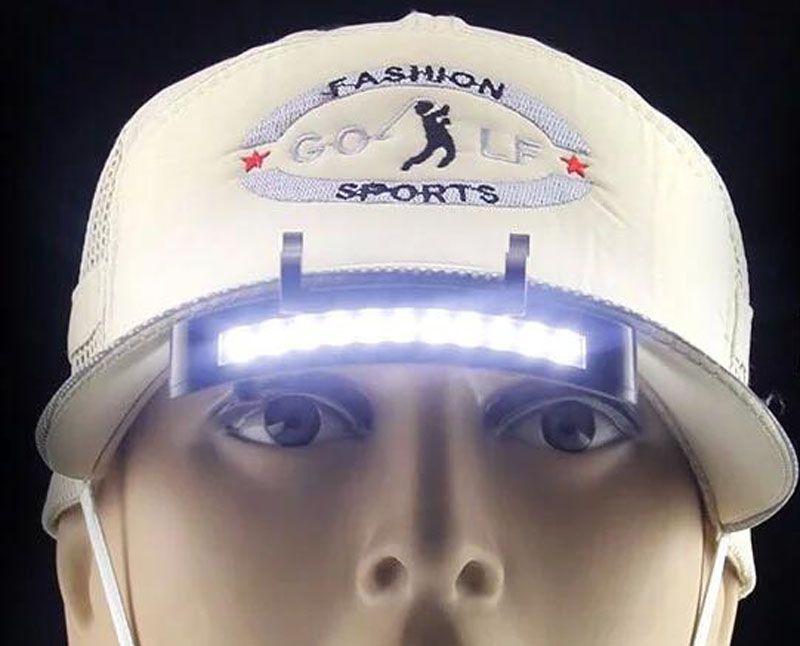 11 LED Far Far El Feneri Kap Şapka Torch Başkanı Işık Lambası-Açık Balıkçılık Kamp Avcılık Klip-On Işıkları Süper Parlak