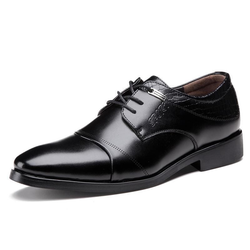 Men Microfiber Fashion Lace Up Leather Shoes - Black 42 sale for cheap great deals visa payment cheap online best seller ZkS8bQz9