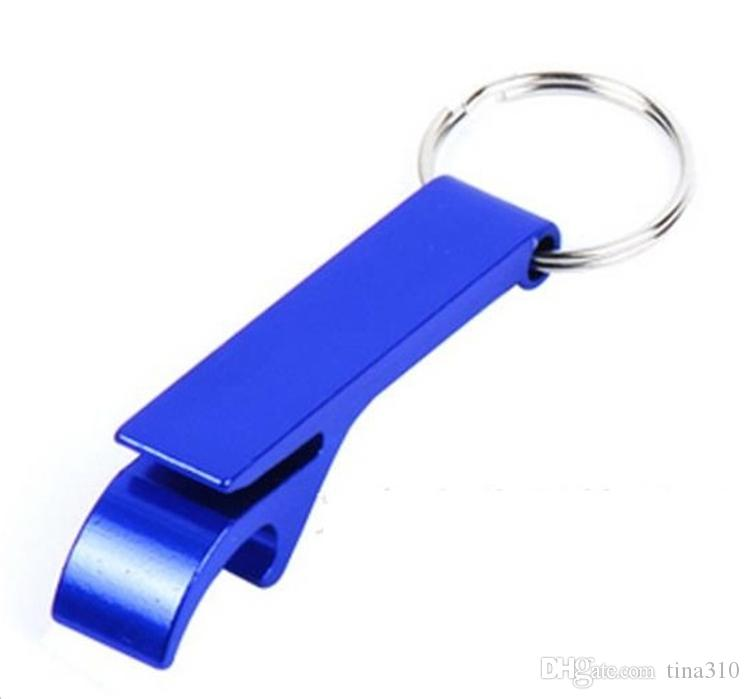 Nouveau Métal En alliage D'aluminium Porte-clés porte-clés anneau avec Bière Décapsuleur Personnalisé personnalisé, laser gravure pour livraison ouvre