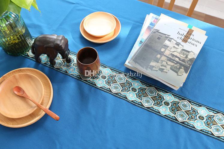 Yeni Çin - tarzı masa örtüsü Kıta mavi lüks ulusal rüzgar yüksek - dereceli yemek masa sehpa bez yeni klasik masa örtüleri