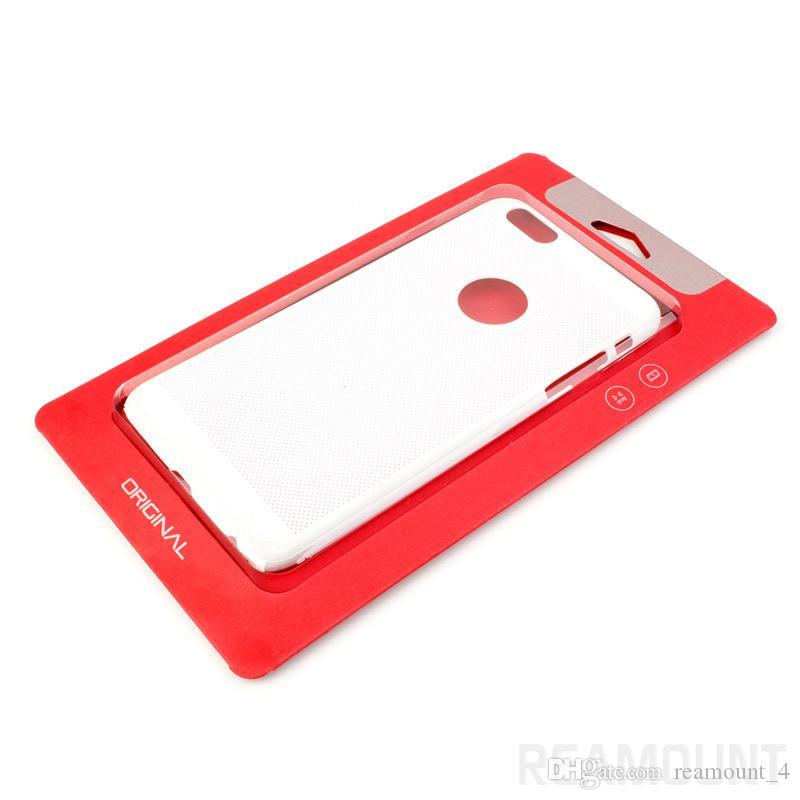 Großhandelsklasse fertigen das rote Kraftpapier besonders an, das für iPhone 6 6s 7 7 plus Handy-Abdeckung verpackt
