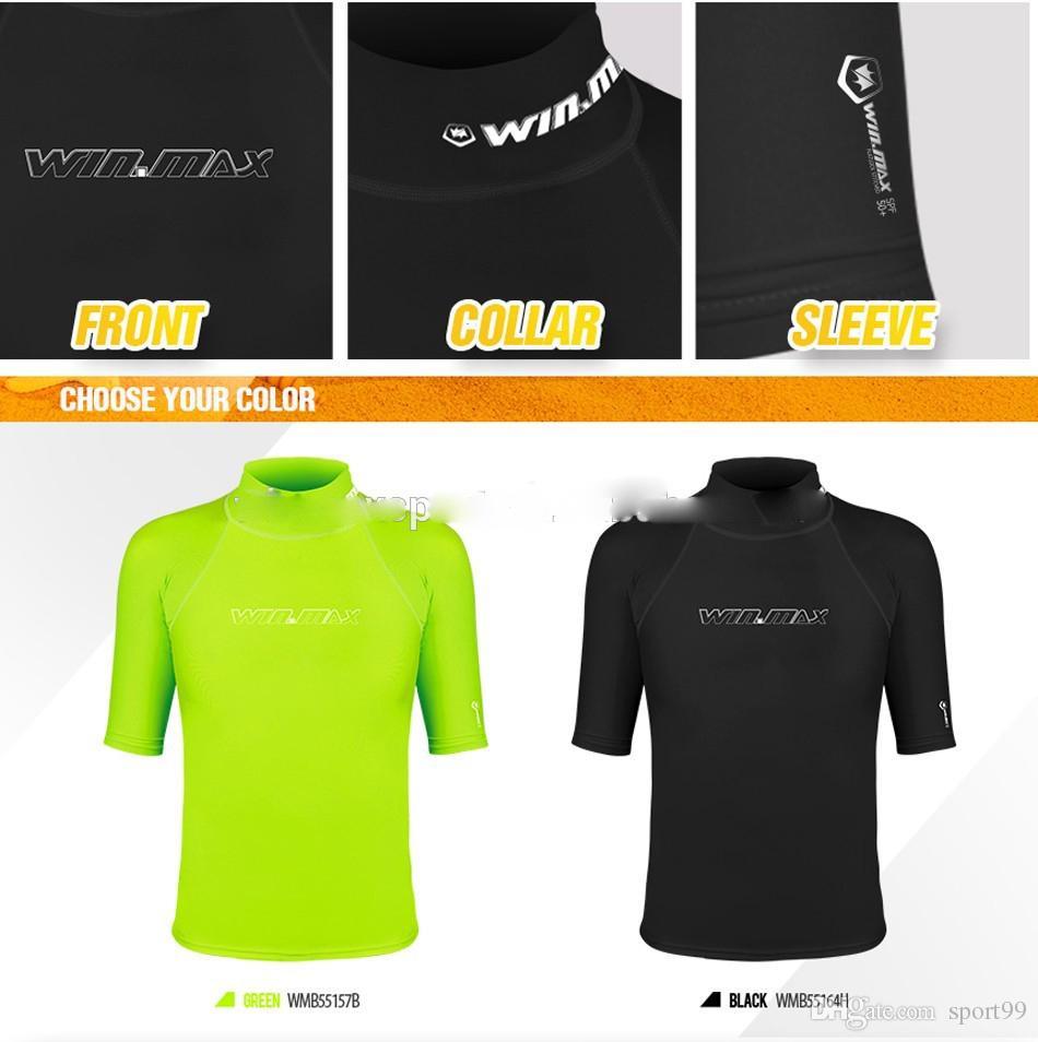 2017 WINMAX short surf clothing,diving suits shirt ,rashguard men,short sleeves swimwear lycra rash guard surf shirt Snorkeling Wetsuits