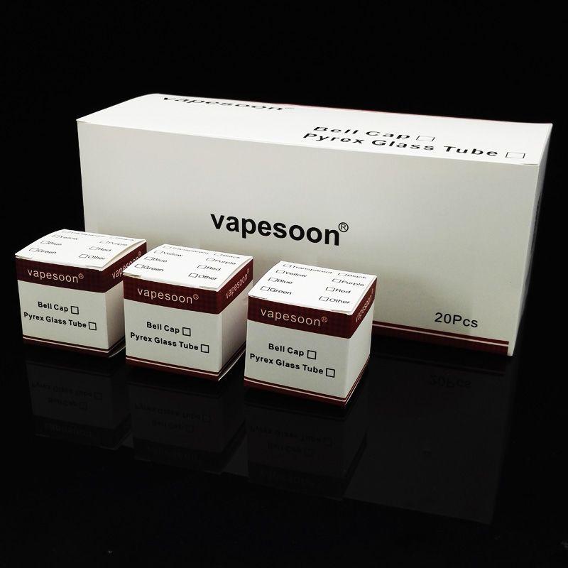 Vapesoon استبدال أنبوب زجاجي ل tfv4 / tfv4 مصغرة / tfv4 نانو / tfv8 / tfv8 كبير خزان الطفل الصغير tfv4 plus 3.5ml خزان واضح زجاج أنبوب