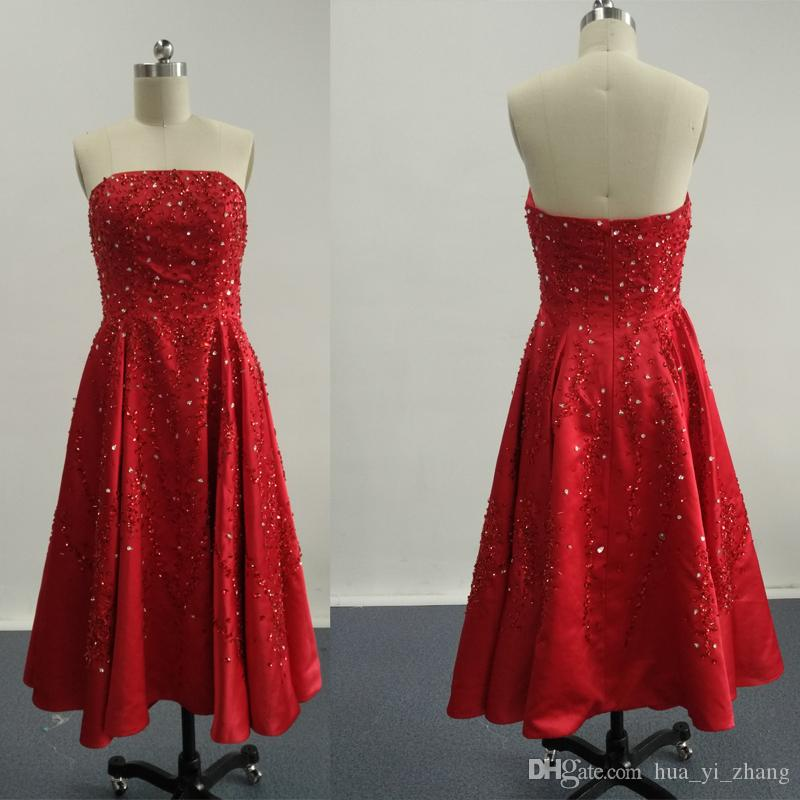 2016 BURGUNDY PROM DRESSES A LINE SEQUINS LACE PROM-kappor med strapless mini / kort kjol dhyz 01