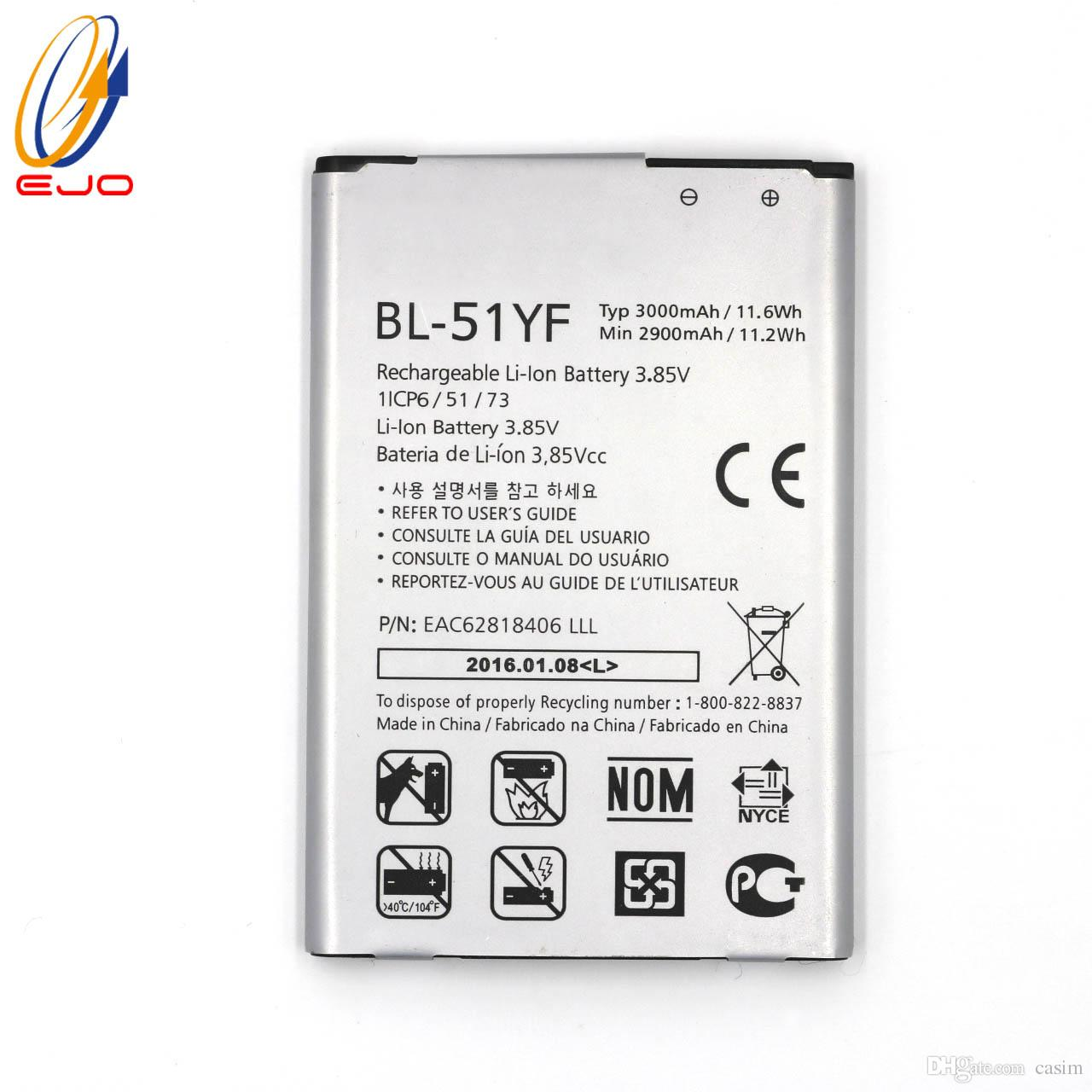 Lg Li Ion Battery >> Battery For Lg G4 New High Quality Li Ion Replacement Batterle Eac62818406 3 8v Bl 51yf Batteries Akku