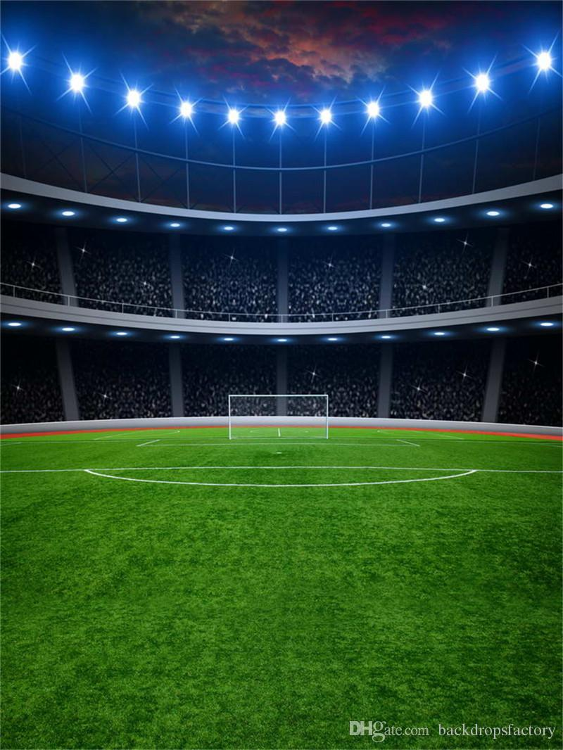 2018 football field backgrounds for photo studio flash
