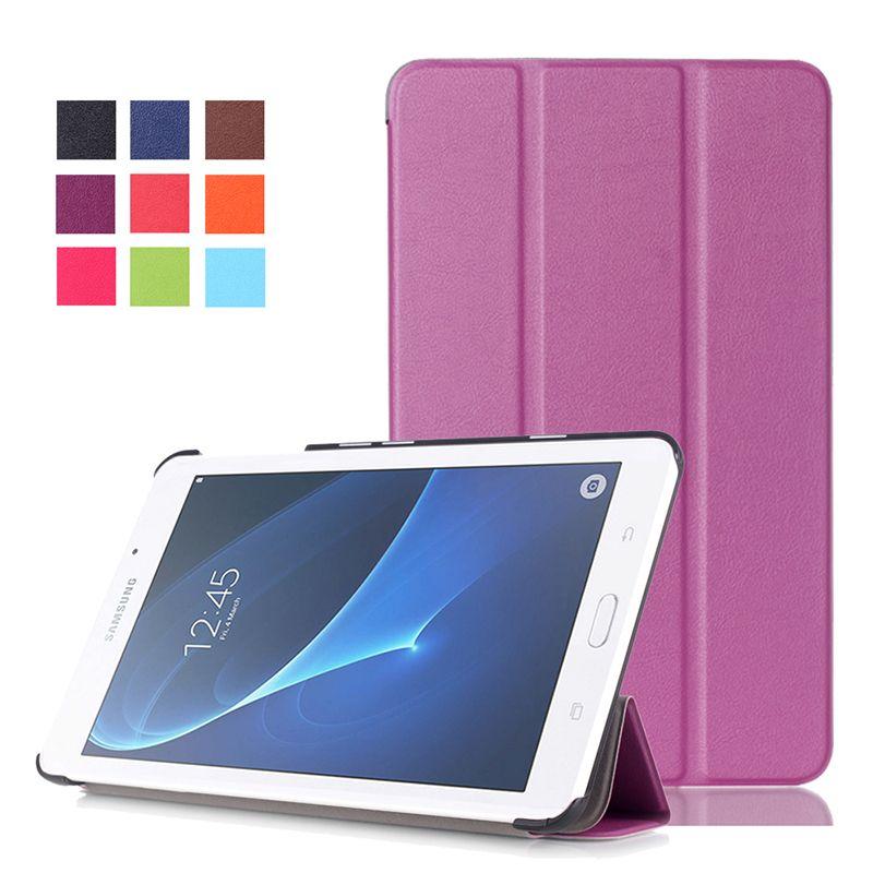 Magro Magnetic Folio caso capa Ultra suporte de couro para Samsung Galaxy Tab A 7.0 T280 T285 Tablet
