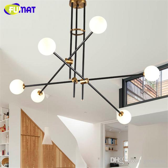 discount fumat white glass ball chandelier modern retro led chandelier indoor lightings tree branch lamp led lamparas colgantes screw in pendant lights