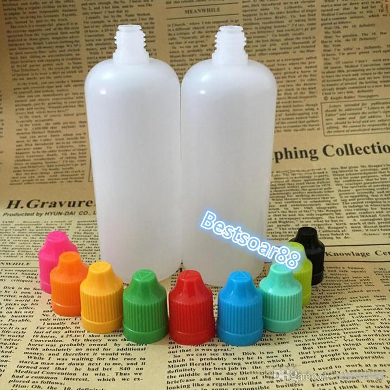 Colorful Child proof Cap PE E liquid Bottle Wholesale 120ml Empty Plastic Dropper Bottles Needle Tip Essential Oil Bottle In Stock