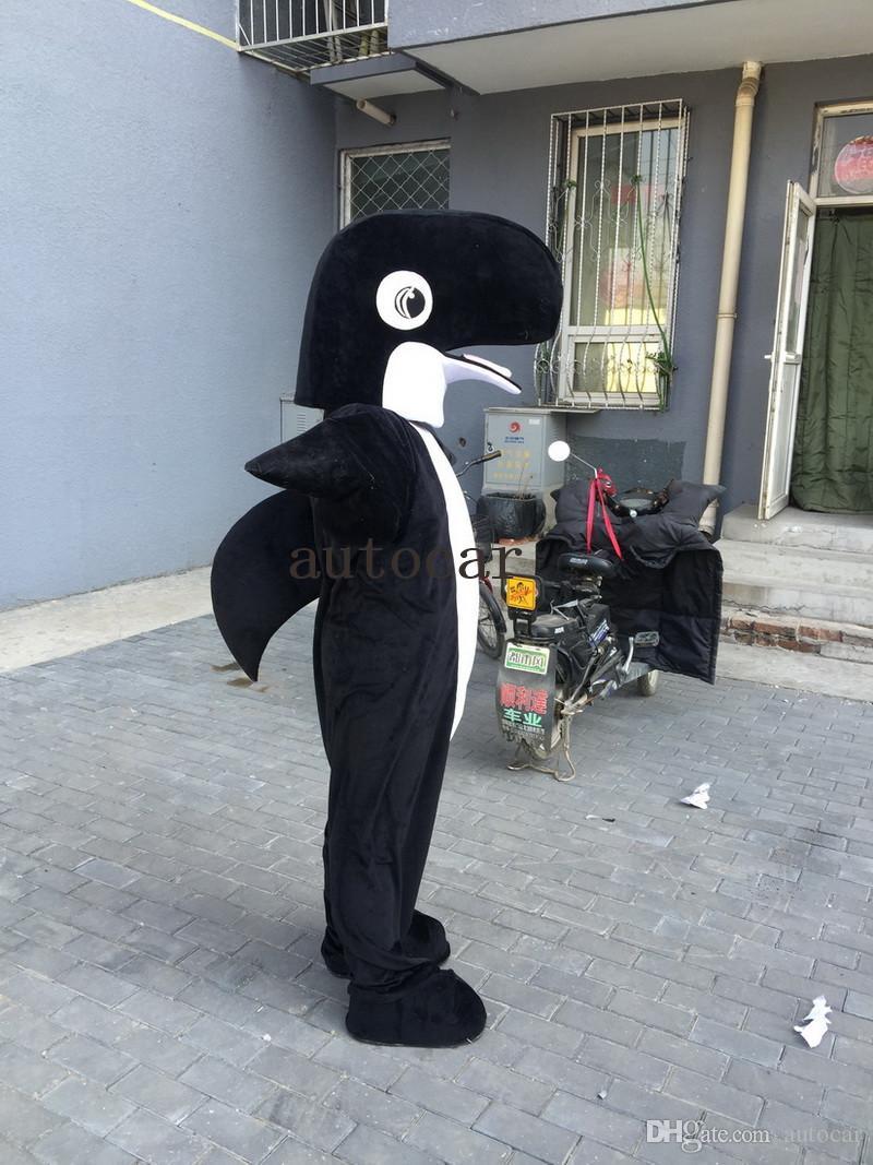Черная акула Дельфин костюм талисмана костюмы талисмана для взрослых Рождество Хэллоуин костюм необычные платья костюм Бесплатная доставка