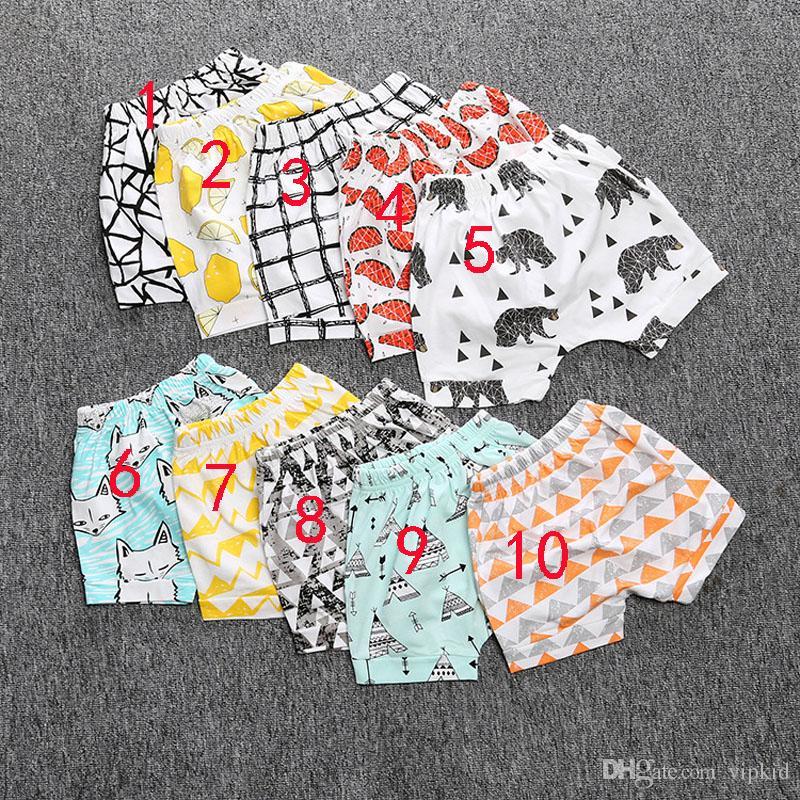INS Pantalon d'été imprimé géométrique animal Pantalons bébé Shorts Marque Enfants Vêtements pour bébé Livraison gratuite