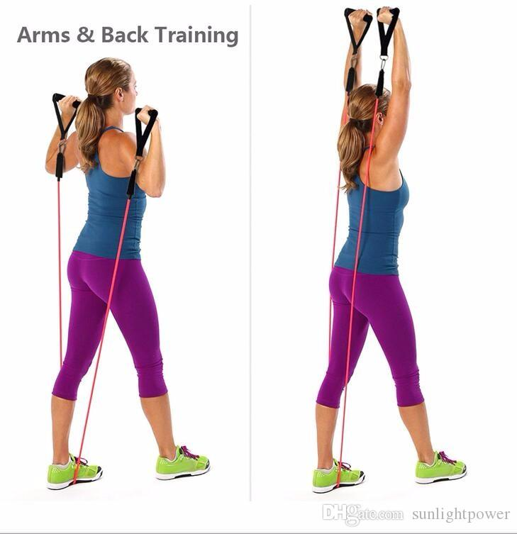 New Latex Resistance Bands Workout Exercise Pilates Yoga Crossfit Fitness Tubes Pull Rope