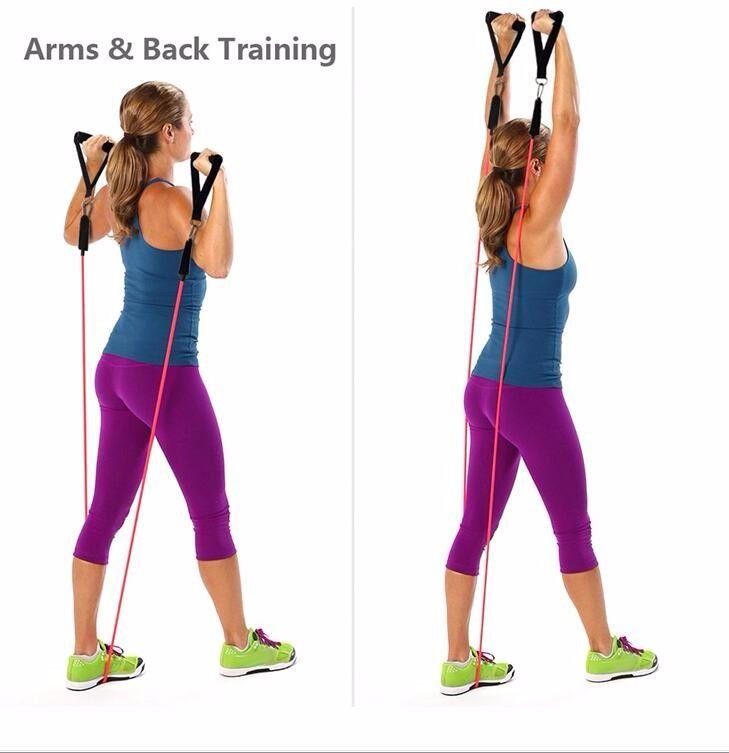 Yeni 11 Adet / takım Lateks Direnç Bantları Egzersiz Egzersiz Pilates Yoga Crossfit Spor Tüpler Çekme Halatı