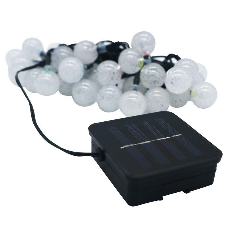 Umlight1688 Led Güneş Enerjili Açık Dize Işıklar 6 M 30 LEDs Kristal top Küre Peri Şerit Işıklar Aydınlatma Dekor Dışında Veranda Parti Için