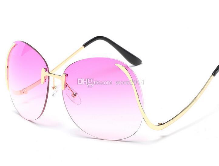 73df64d625c Rimless Eyeglasses for Women Colorful Designer Frameless Sunglasses ...