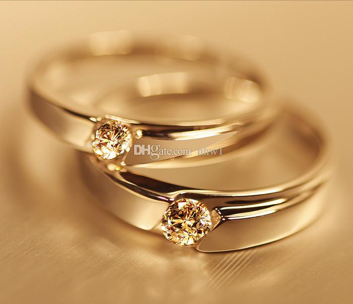 Silver Plated Couple Rings For Women bijoux Fashion Crystal Wedding Jewelry anel masculino Couple Rings For Lovers