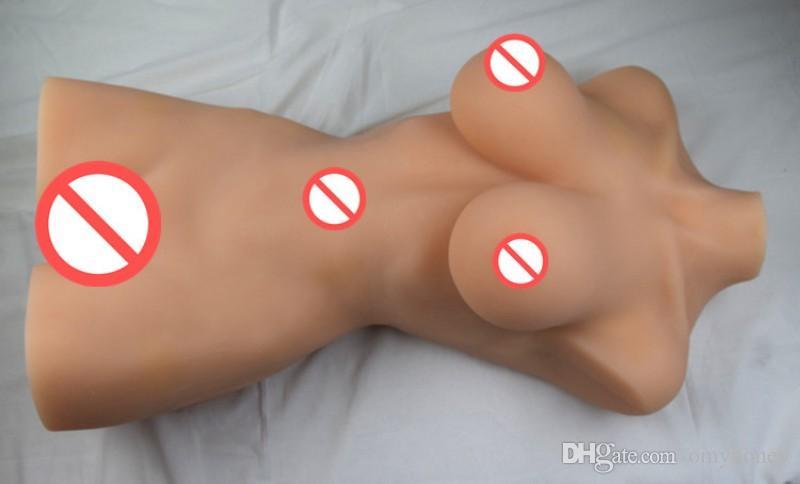 luxury silicon dolls large half body big breast tight vagina sex toys for men, 3d solid lifelike size love dolls, male masturbator