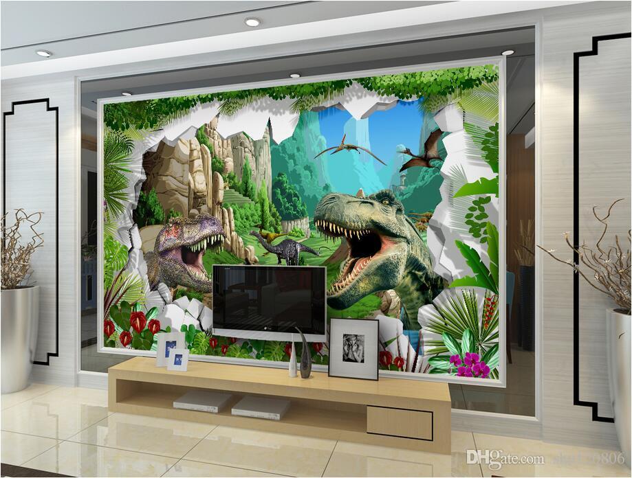 3d odası wallpaer özel duvar resmi Antik dinozor dönemi TV kanepe arka plan boyama duvar boyama 3d duvar kağıdı duvarlar için duvar kağıdı 3 d