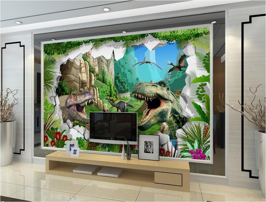 3d room wallpaer custom mural foto Antigua era de dinosaurios TV sofá pintura de fondo pintura mural 3d murales de pared de papel tapiz para paredes 3 d