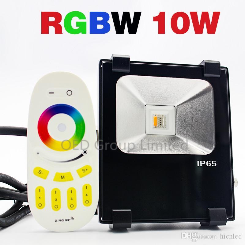 Rgbw 10w Led Flood Light Led 24g Rf Remote Control Rgbwarm White