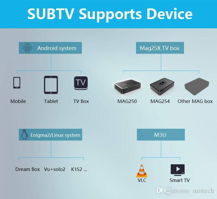 3400+ SUBTV IPTV Account Apk 3/6/12 Months Europe Arabic channels Lations America for Android Enigma2 Mag 250/254,USB wifi only
