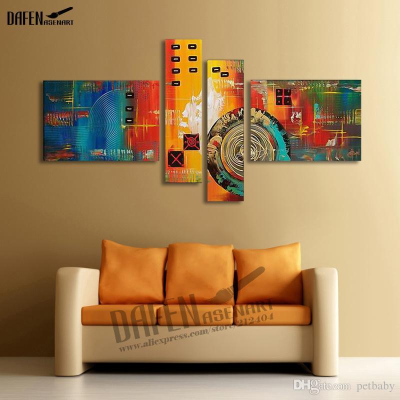 Pintado a mano pintura al óleo abstracta moderna pintura al óleo abstracta imagen de arte de pared grande rojo pinturas para sala de estar decoración del hogar arte