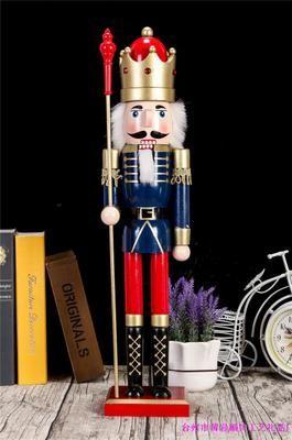 Creative Casse-Noisette 60CM grand soldat de marionnettes Casse-Noisette Roi musiciens talisman chanceux ornements soldats vivant