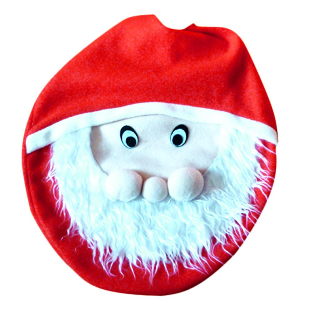 wholesale hot sale snowman toilet seat cover bathroom christmas xmas home decoration for christma fancy santa claus toilet seat cover shopping christmas