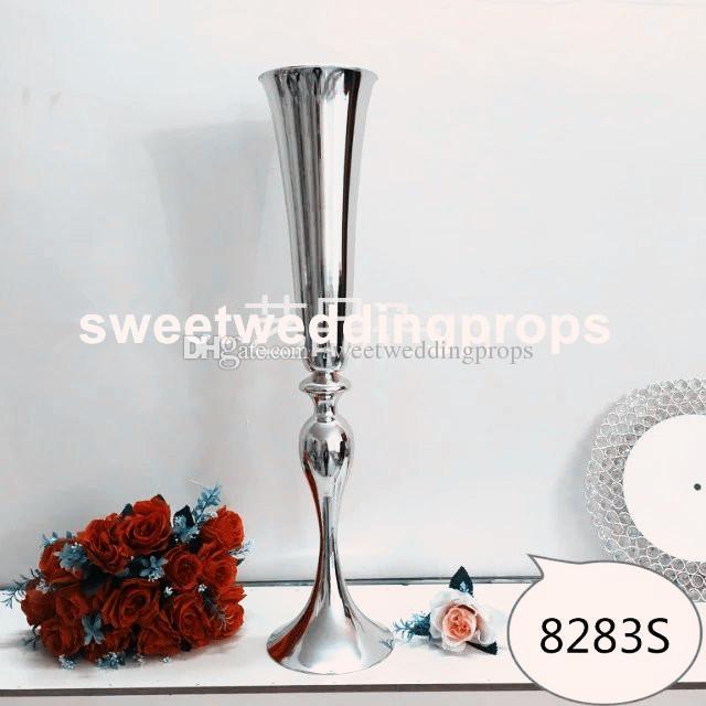 54 cm Altın Düğün Çiçek Vazo Masa Centerpiece Düğün Sahne 10 adet / grup