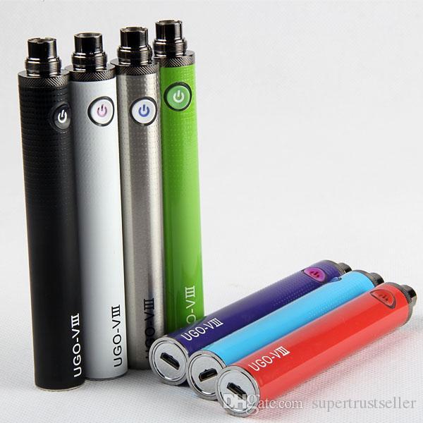 eGo T UGO V3 Micro-USB-E-Zigarette Vape-Stiftakku 510 1300mah Evod Passthrough-Akkus Ladezustand mit USB-Ladegerät