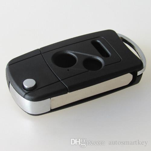 Best design flip folding car remote key blank case for Honda 2+1 buttons modified flip key shell FOB