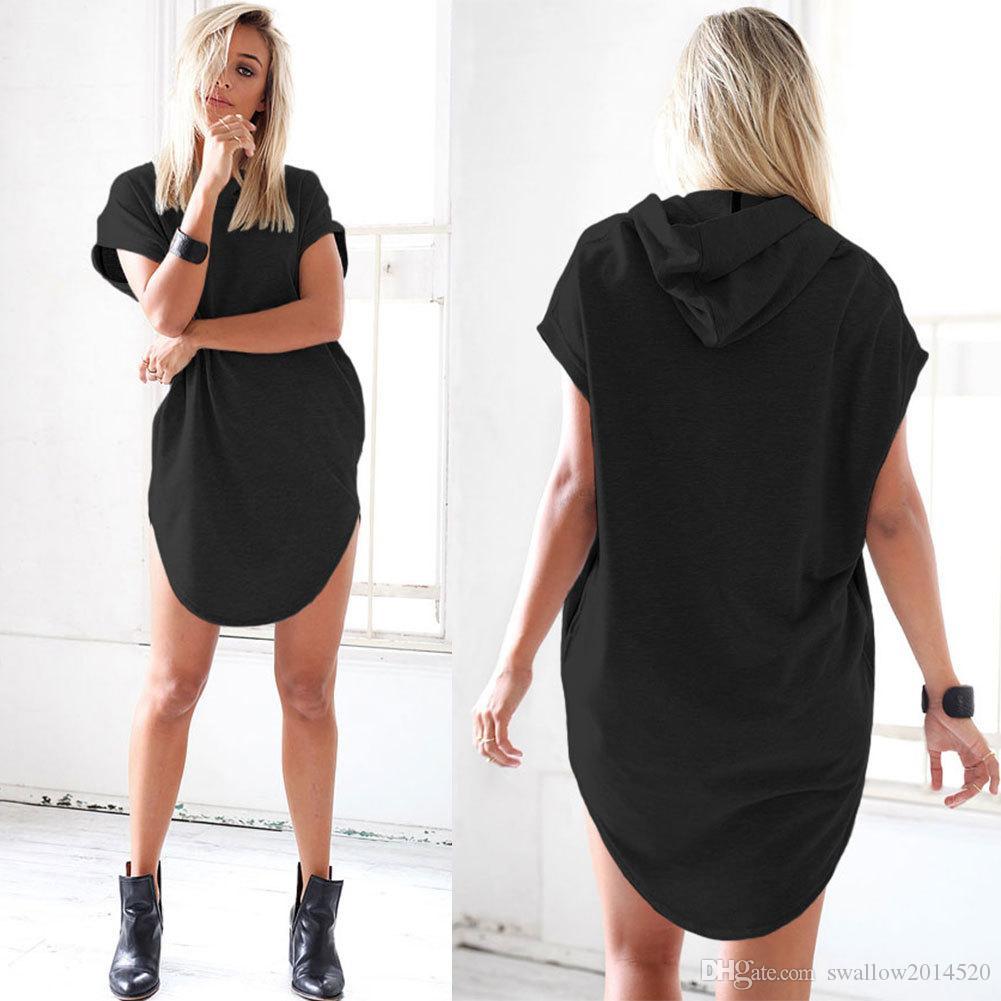 Camisetas Mujer Grau Mit Kapuze T-shirt Frauen Frauen Tops Mode 2017 Kurzarm T-shirts Frau Kleidung Vetement Femme T-shirt